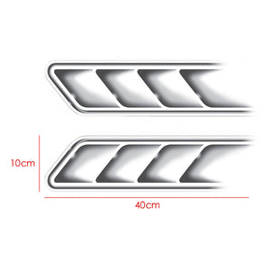 1 Pair Car Fake Hood Vent Vents Decorative Air Outlet Stickers And Decals Car-styling Decoration For All Cars Accessories - Trivoshop.com