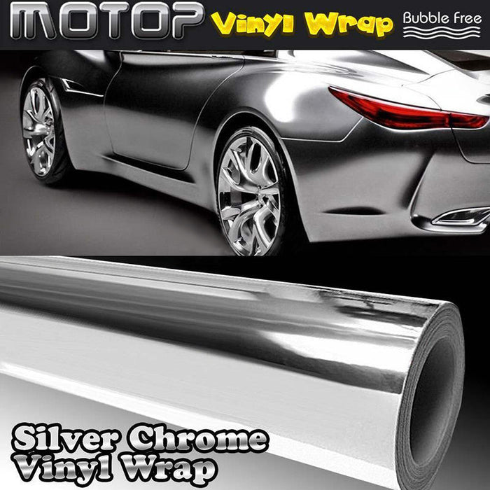 High Quality 30x152CM 12x60 inch DIY Car Silver Chrome 3D Vinyl Wrap Film  Sticker Decal for Vehicle Auto Motorcycle Stickers - Trivoshop com