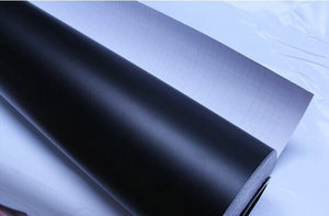 100mm x 1520mm Matte Matt Black Vinyl Wrap Self Adhesive Air Release Bubble Free Car Styling Membrane Sticker Decal Film - Trivoshop.com