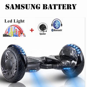 10 inch Smart Scooter Samsung Battery +Bluetooth + Speaker Two Wheel Self Balance Scooter Electric HoverBoard - Trivoshop.com