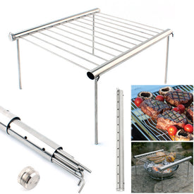 Portable Stainless Steel BBQ Grill Folding BBQ Grill Outdoor Picnic Camping BBQ Tool Set - Trivoshop