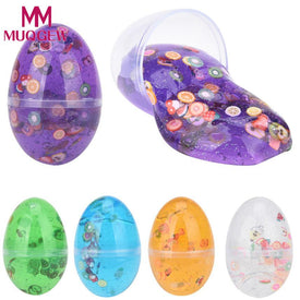 MUQGEW 2018 polymer Egg Colorful Soft Slime Slime Scented Stress Relief Toy Sludge Toy fluffy colorful soft slime fluffy slime