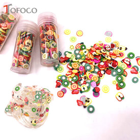 TOFOCO 3 Box Clear Slime Fruit Slices Mixed Kawaii Soft Clay Diy Slime Supplies Accessories Crystal Mud Lizun Toys For Kids