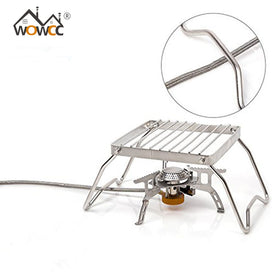 WOWCC BBQ Grill Stainless Steel Grill Rack Barbecue Grill Portable Folding Mini Pocket BBQ Grill Barbecue Accessories - Trivoshop