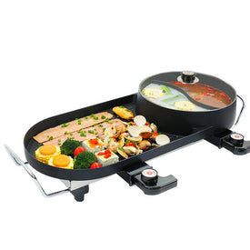 outdoor household cooking meat kitchen electric kebab steak hotplate bbq barbecue machine grill oven roaster tool bakeware - Trivoshop