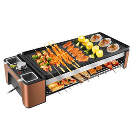 roast electric korean outdoor household steak meat cooking grill baking pan hotplate bakeware oven tool bbq machine roaster - Trivoshop