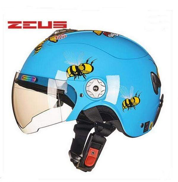 Trivoshop.com Blue / S Newest ZEUS children motorcycle helmet child ABS half face Motorbike electric bicycles for Bee pattern 4 colors size S M