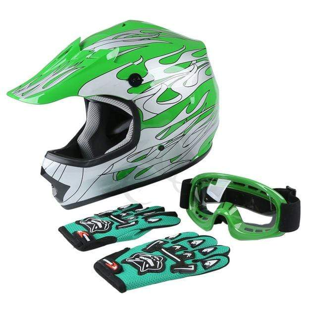 Trivoshop.com XF270213 Green / L / United States Motorcycle Helmet