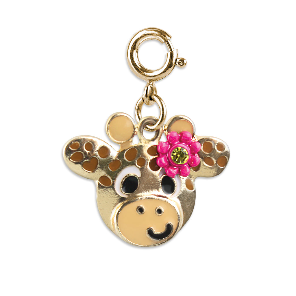 CHARM IT! Gold Flower Giraffe Charm