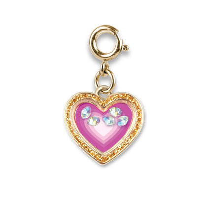 Gold Heart Shaker Charm - shopcharm-it