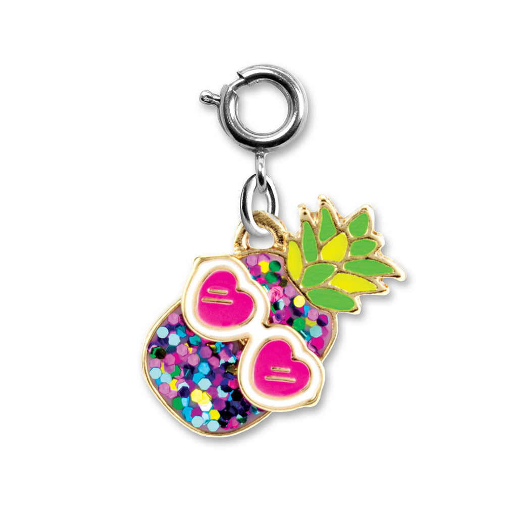 Glitter Pineapple Charm - shopcharm-it