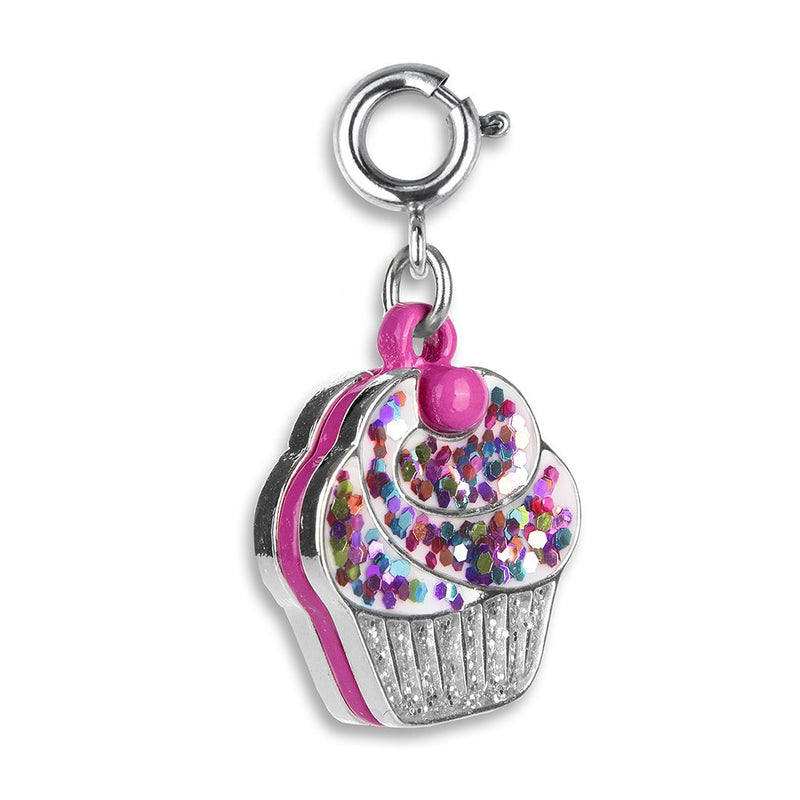 Glitter Cupcake Charm - shopcharm-it