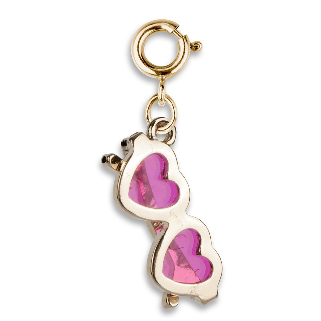 Shop Gold Heart Sunglasses Charm