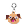 Googly Eyes Pug Charm