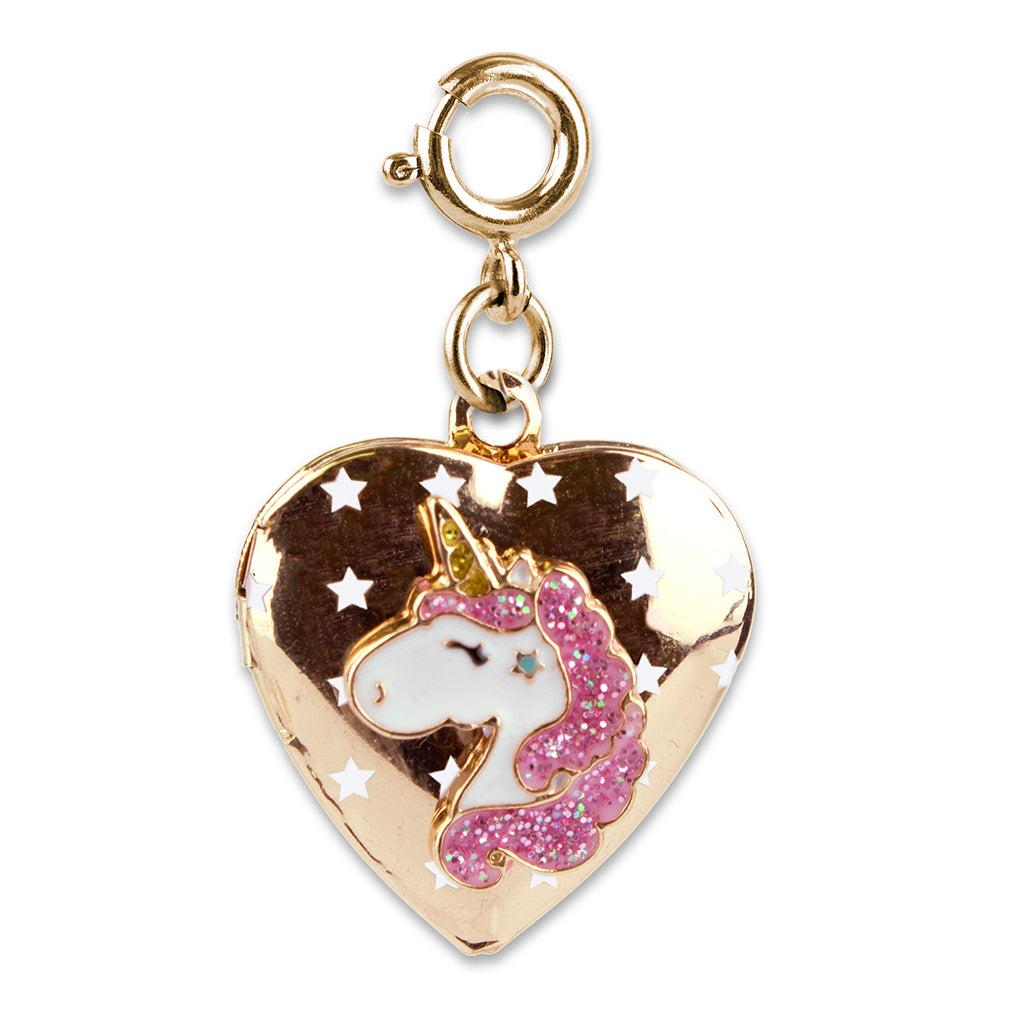 Gold Unicorn Locket Charm - shopcharm-it