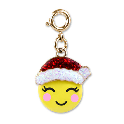 Shop Gold Santa Emoji Charm