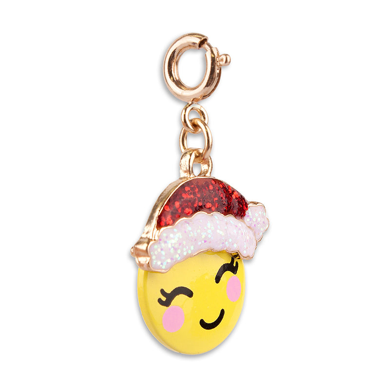 Gold Santa Emoji Charm - shopcharm-it