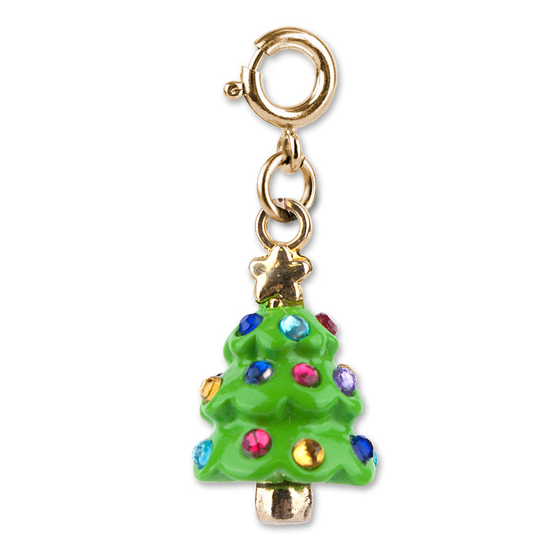 Gold Christmas Tree Charm - shopcharm-it