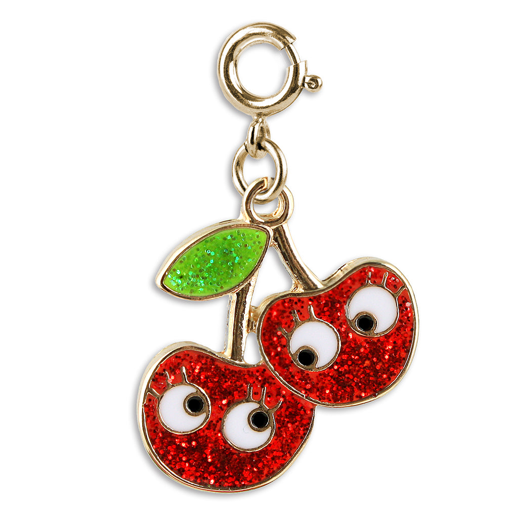 Shop Gold Glitter Cherry Friends Charm