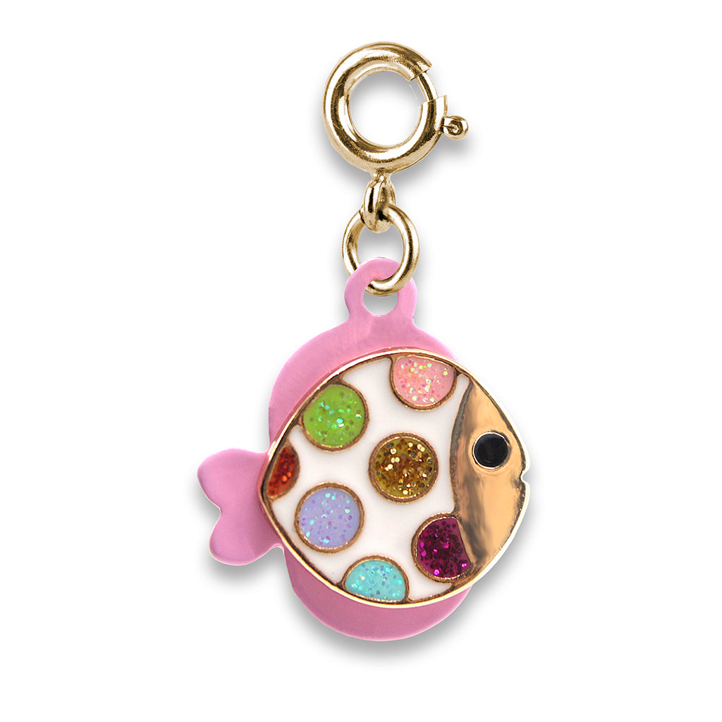 Gold Glitter Tropical Fish Charm - shopcharm-it