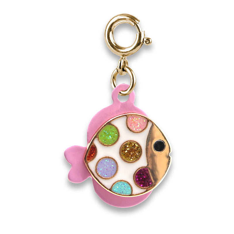 CHARM IT! Gold Glitter Tropical Fish Charm