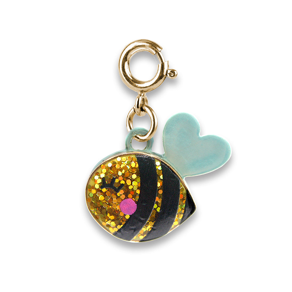 Shop Gold Glitter Bee Charm