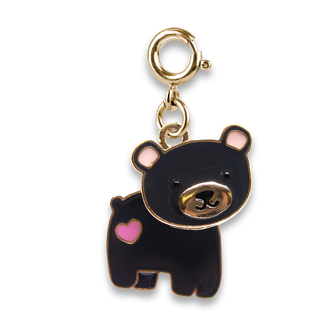 CHARM IT! Gold Swivel Bear Charm