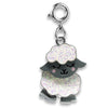 Swivel Glitter Sheep Charm