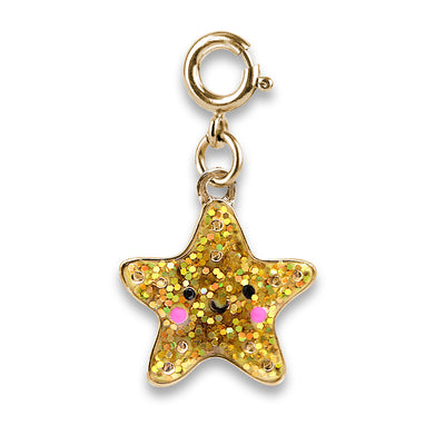 Shop Gold Glitter Starfish Charm