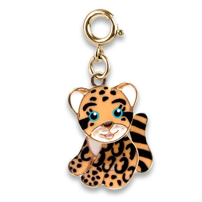 Gold Cloud Leopard Charm - shopcharm-it