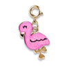 Gold Glitter Flamingo Charm