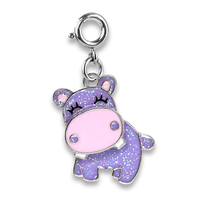 CHARM IT! Glitter Swivel Hippo Charm