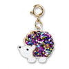 CHARM IT! Gold Glitter Hedgehog Charm