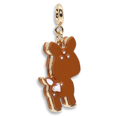 Girls Gold Fawn Charm