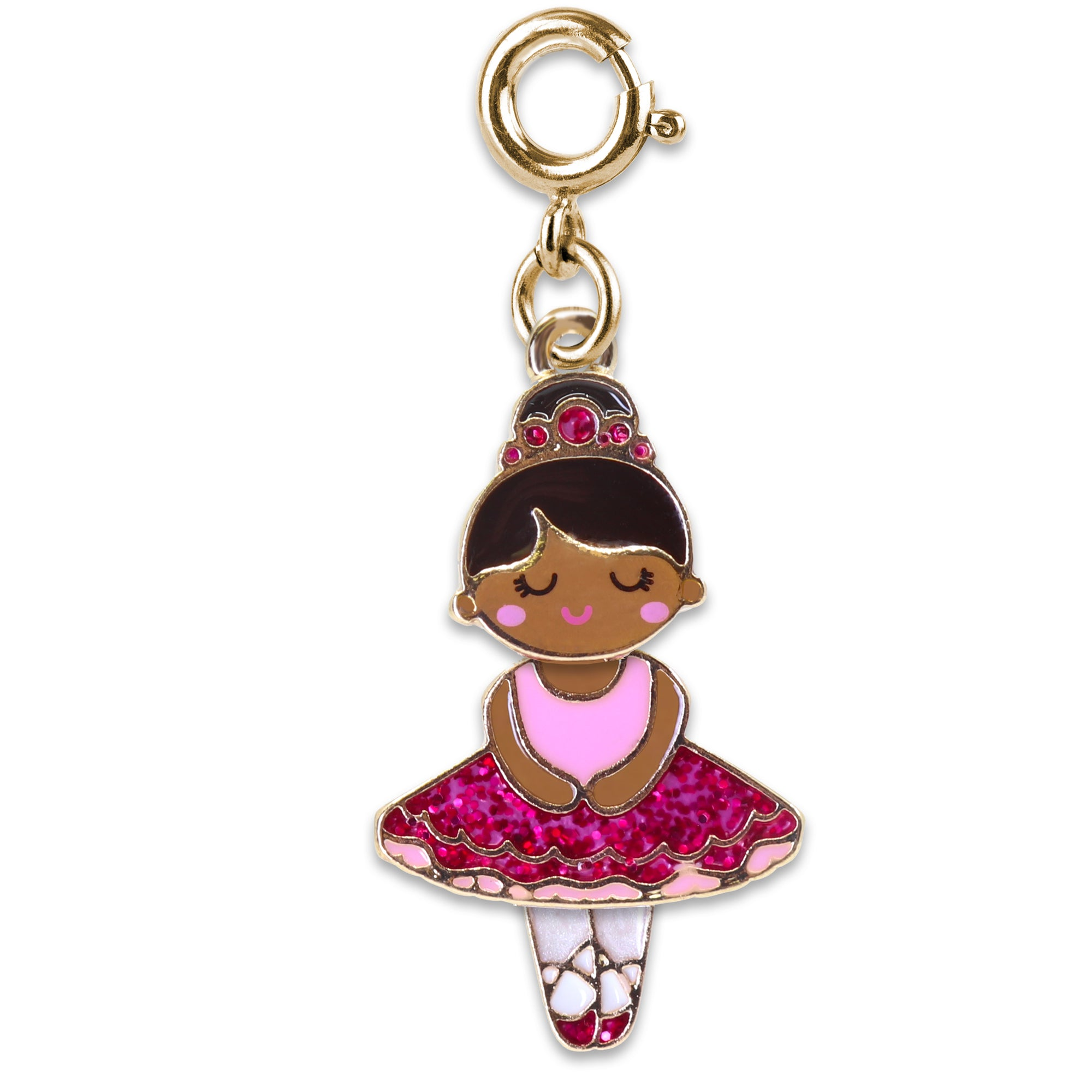 Shop Gold Swivel Ballerina Charm (Pink)