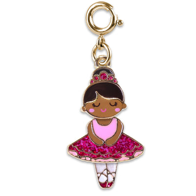 Gold Swivel Ballerina Charm (Pink) - shopcharm-it