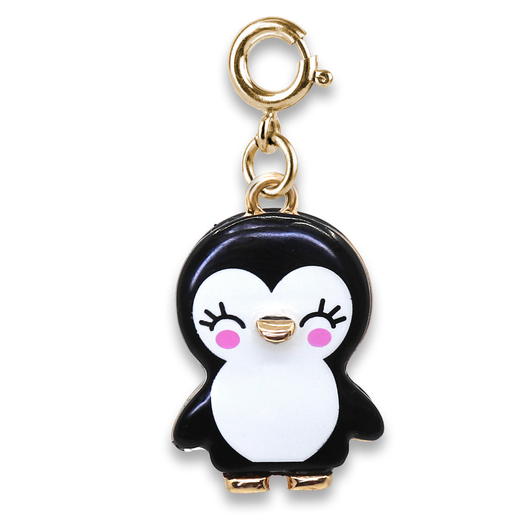 Gold Penguin Charm - shopcharm-it
