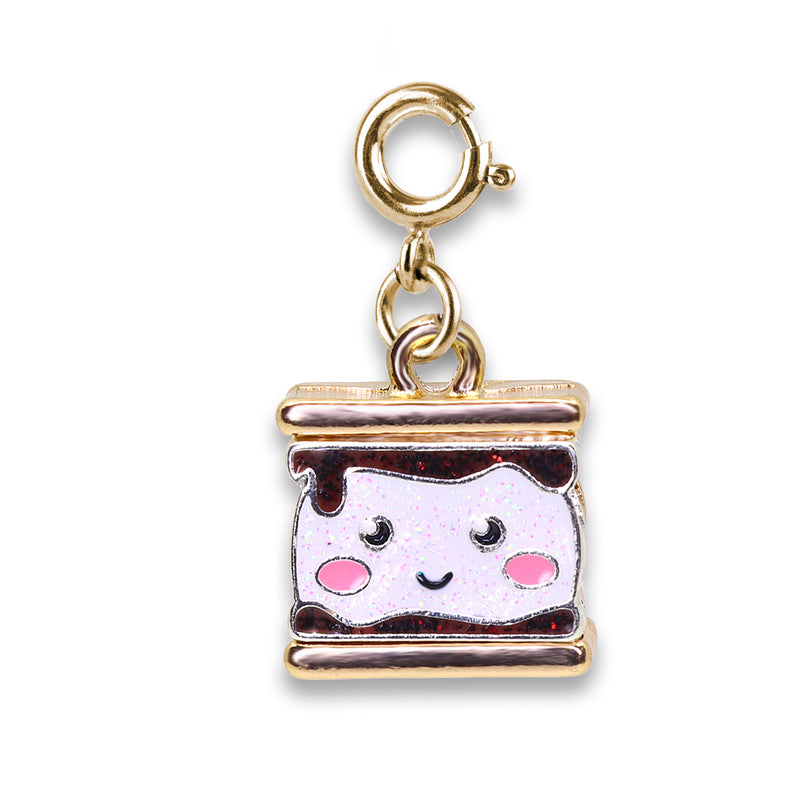 Shop Gold Glitter S'mores Charm