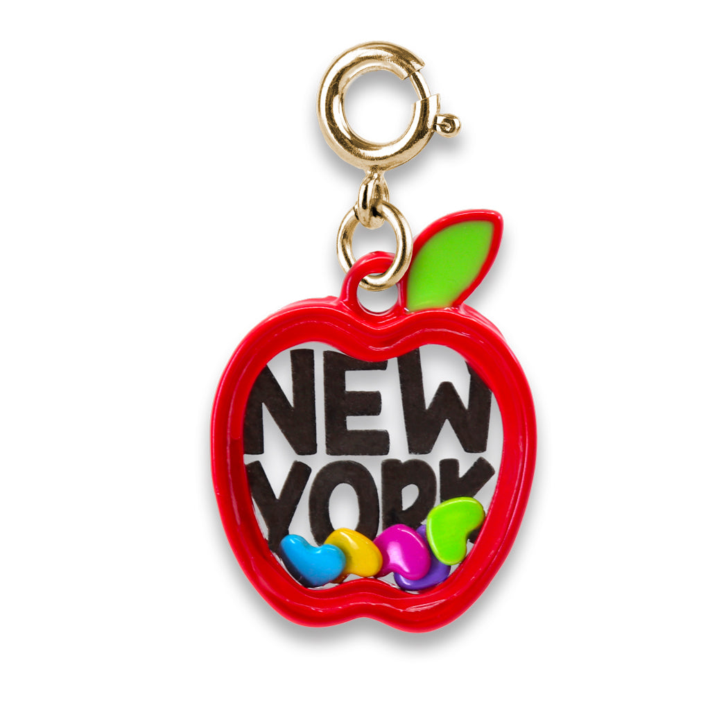Shop Gold New York Apple Shaker Charm