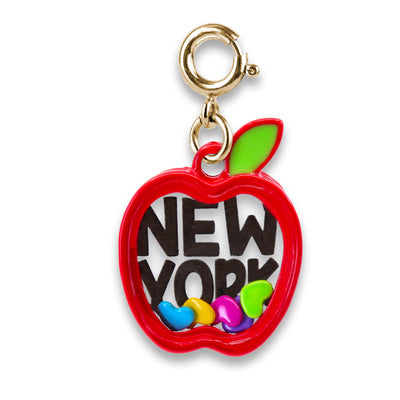 Gold New York Apple Shaker Charm