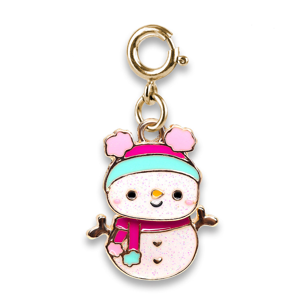Gold Swivel Snowman Charm - shopcharm-it