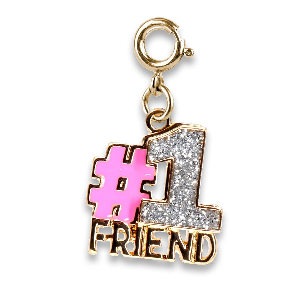 Gold Glitter #1 Friend Charm