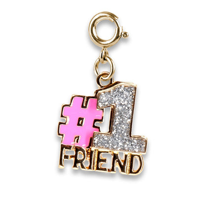 Gold Glitter #1 Friend Charm - shopcharm-it