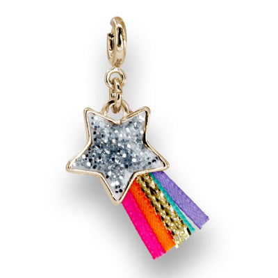 Gold Glitter Shooting Star Charm