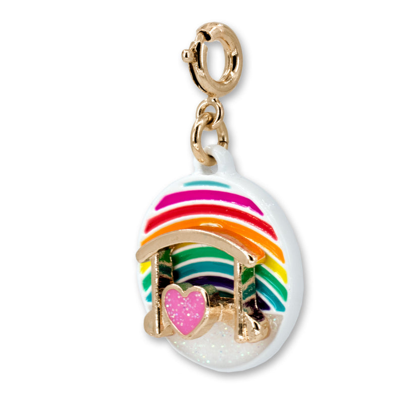 CHARM IT! Gold Rainbow Bridge Charm