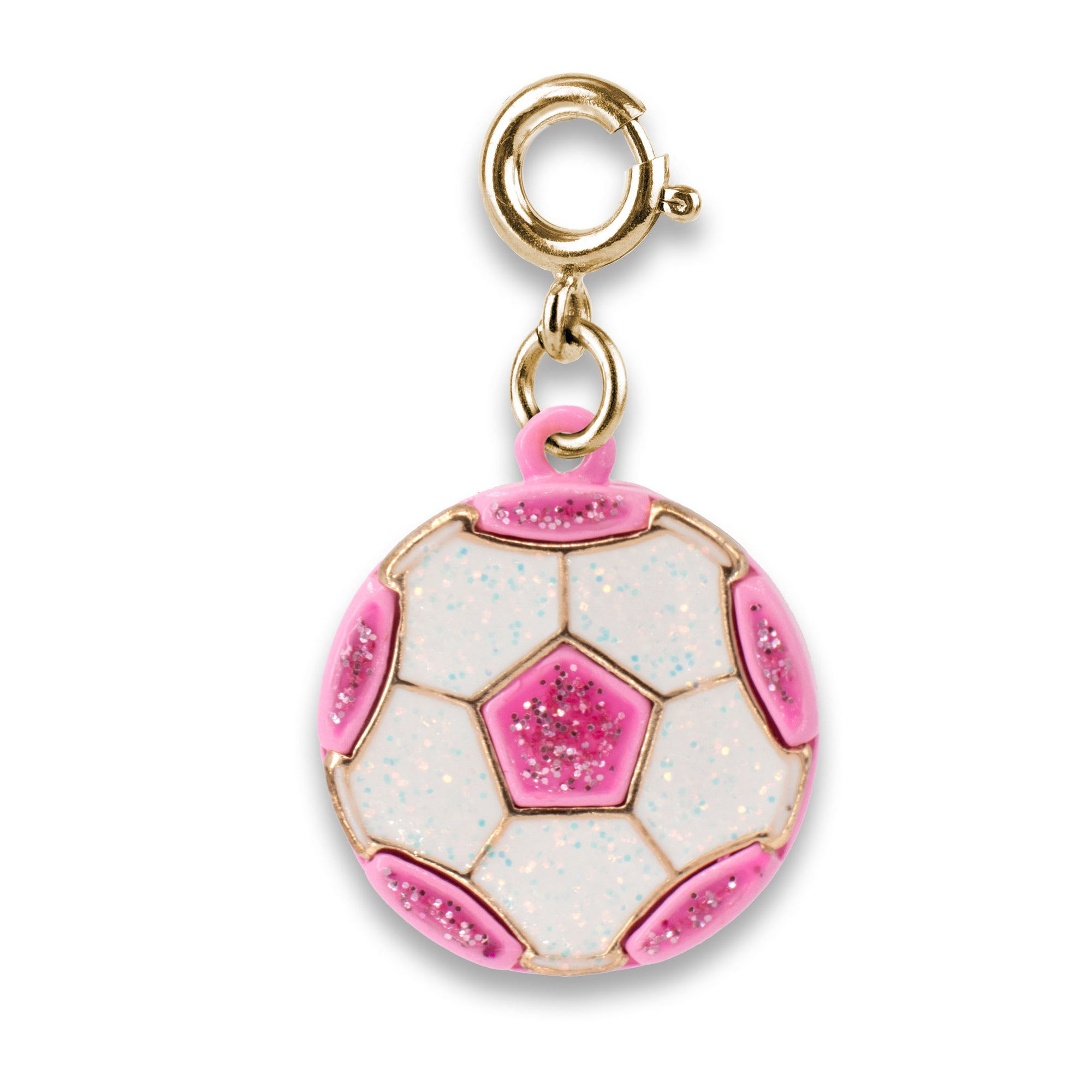 CHARM IT! Gold Glitter Soccer Ball Charm