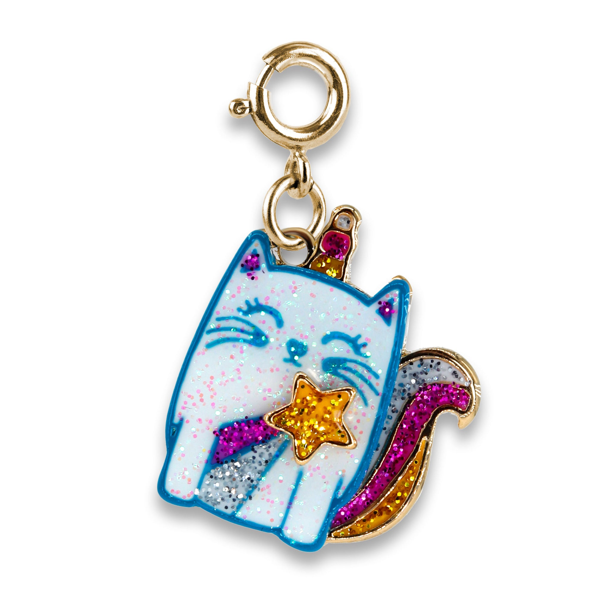 CHARM IT! Gold Glitter Unicorn Cat Charm