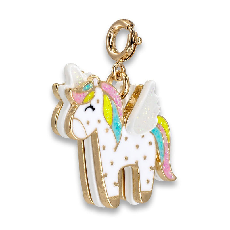 CHARM IT! Gold Flying Unicorn Charm