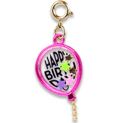 Gold Birthday Balloon Shaker Charm