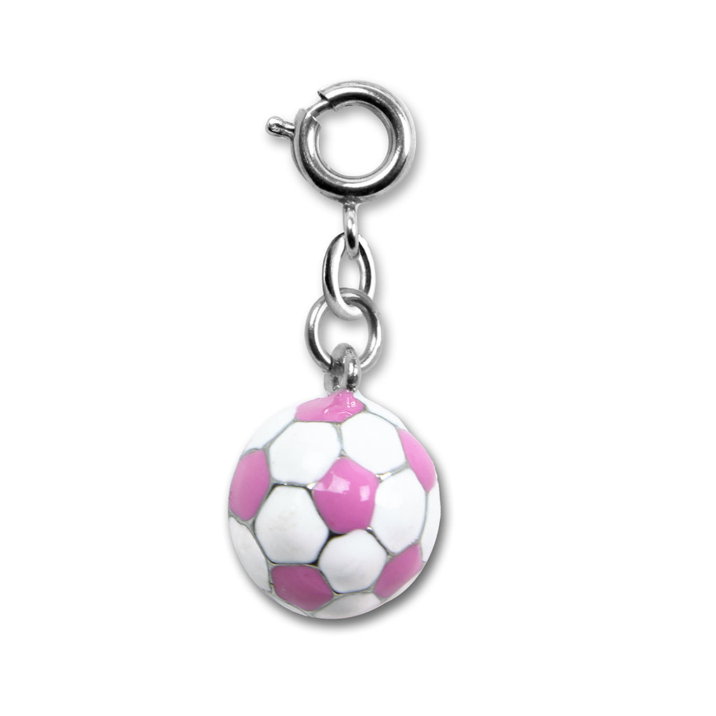 Pink Soccer Ball Charm - shopcharm-it